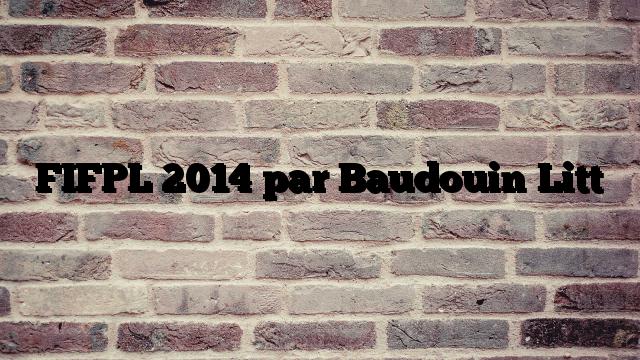 FIFPL 2014 par Baudouin Litt